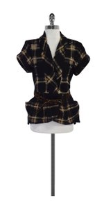 Nanette Lepore Brown Black Fleece Jacket