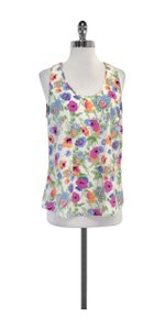 Joie Multi Color Floral Print Silk Top