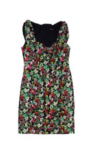 Nanette Lepore short dress Black Green Pink Floral on Tradesy