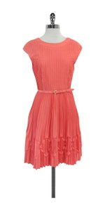 Ted Baker short dress Coral Pin Tucked Pleated on Tradesy