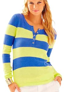 Lilly Pulitzer Lightweight Resort Preppy Gold Buttons Sweater