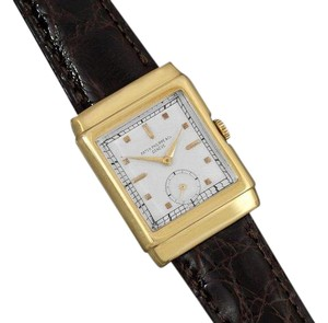 Patek Philippe 1938 Patek Philippe Vintage Mens Hooded Lug Ref. 550 Watch - 18K Gold