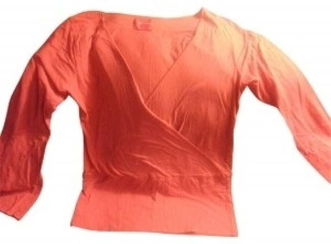 Preload https://item2.tradesy.com/images/isda-and-co-coral-orange-sleeve-tunic-size-8-m-20691-0-0.jpg?width=400&height=650