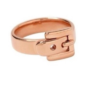 Michael Kors women's rose gold buckle ring