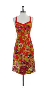 Nanette Lepore short dress Red Floral Print Sleeveless on Tradesy