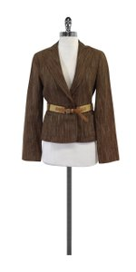 BCBGMAXAZRIA Striped Brown Jacket