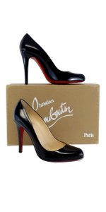 Christian Louboutin Black Patent Decollette Pumps