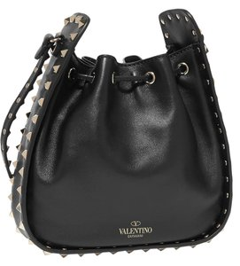 Valentino Rockstud Bucket Studded Leather Shoulder Bag