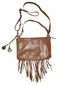 Lucky Brand Leather Fringe Convertable Cross Body Bag
