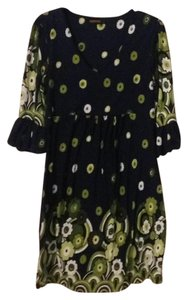 navy with green Maxi Dress by Reborn