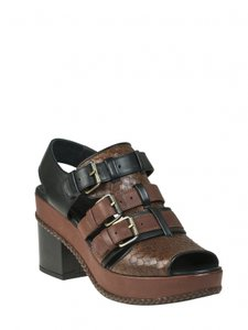 Cotelac Chunky Leather Black/Brown Sandals
