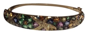 EFFY EFFY Watercolors 14K Yellow Gold Multi Sapphire & Diamond Bangle/ ring