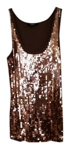 Sequin Express Tank Top Chocolate