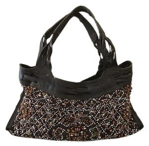 Lucky Brand Leather Beaded Shoulder Bag
