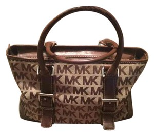 Michael Kors Collection Signature Vintage Leather Tote in Brown