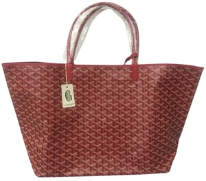 Goyard Saint Louis St Louis Gm Tote in Red