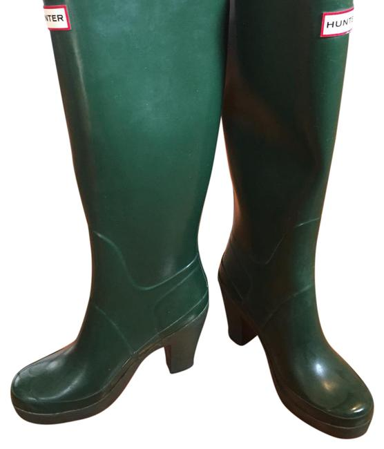 Item - Green With Heels Boots/Booties Size US 7.5 Regular (M, B)