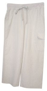 New York & Company Cropped Pants Casual Cargo Size Xs Capris Khaki
