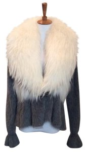 Fox Fur Fur Exclusive Metallic Hardware Two-tone Party Fur Coat