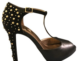 BCBGMAXAZRIA Black Gold Platforms