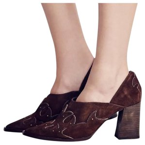 Free People Brown Mules
