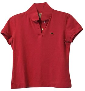 Lacoste Polo Pique Pink Top Strawberry pink