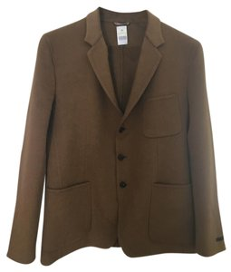 Prada Men's Luxury Italian Jacket Camel Blazer