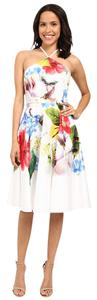 Ted Baker short dress Multi Floral Halter London White Easter on Tradesy