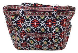 Vera Bradley Tote in Navy, Orange, Lime, & White
