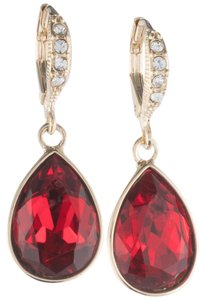Givenchy Swarovski Crystals Gold-Tone, Faceted Pear Stone Drop Earrings