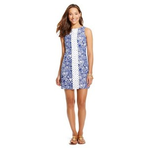 Lilly Pulitzer short dress Blue Upstream Lilly For Target Lilly Shift on Tradesy