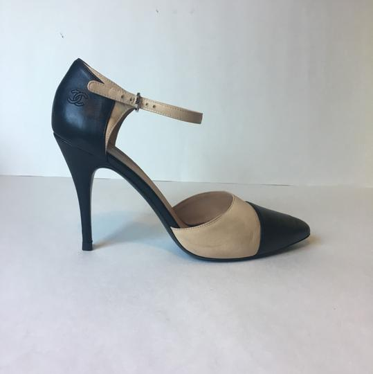 Chanel Classic Black and Beige Pumps