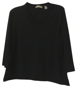 Kate Hill Buttons V-neck Day To Night Church Work Top Black