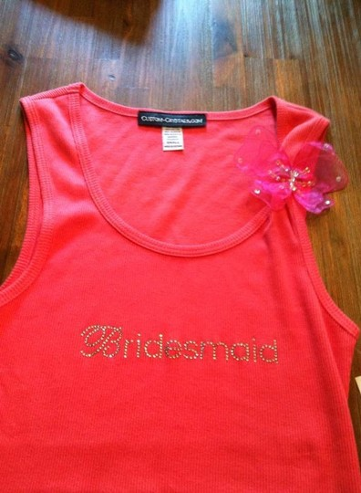 Bridesmaid Tank Top With Butterfly Pin