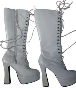 Pleaser white Boots