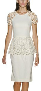 Lela Rose short dress Ivory Burberry Chanel Victoria Beckham Dvf Kate Middleton on Tradesy