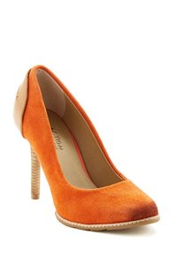 Kenneth Cole Reaction Orange suede Platforms