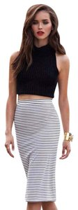 Lovers + Friends Skirt Black and White