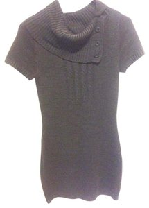 Decree short dress Charcoal Gray Sweater Soft Buttons on Tradesy