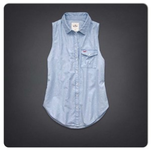 Hollister Button Down Shirt Light Wash