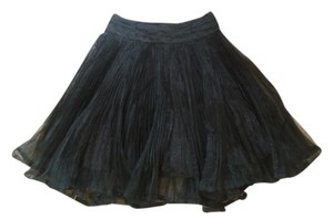 Betsey Johnson Vintage Polyester Satin Skirt Black