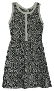 Necessary Objects short dress Black And White Floral Classic Comfortable New on Tradesy