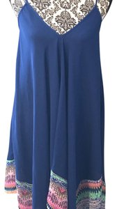 Jessica Simpson short dress blue with multiple colors on Tradesy