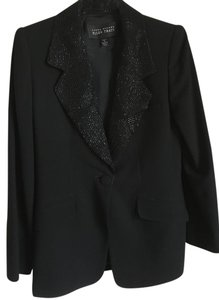 Ellen Tracy Evening Jacket Black with shiny threaded collar Blazer