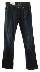 Seven7 Stretchy Boot Cut Jeans-Dark Rinse