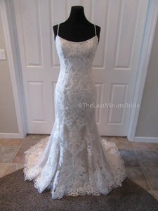 Sottero and Midgley Ivory/Lt Gold Lace Celine 6sw175 Destination Wedding Dress Size 12 (L)
