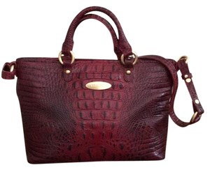 Brahmin Satchel in Crimson