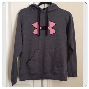 womens hot pink under armour hoodie