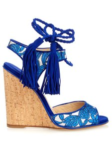 Paul Andrew Blue/Silver Sandals