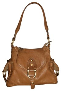 Coccinelle Leather Front Flap Satchel in Brown